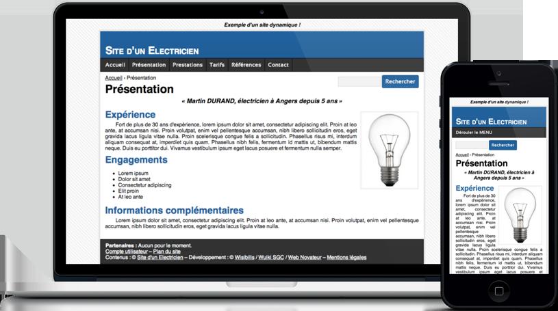 Exemple d'un site web dynamique